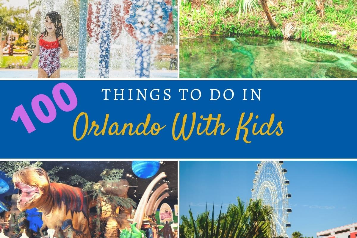 image of various attractions and things to do in Orlando with kids