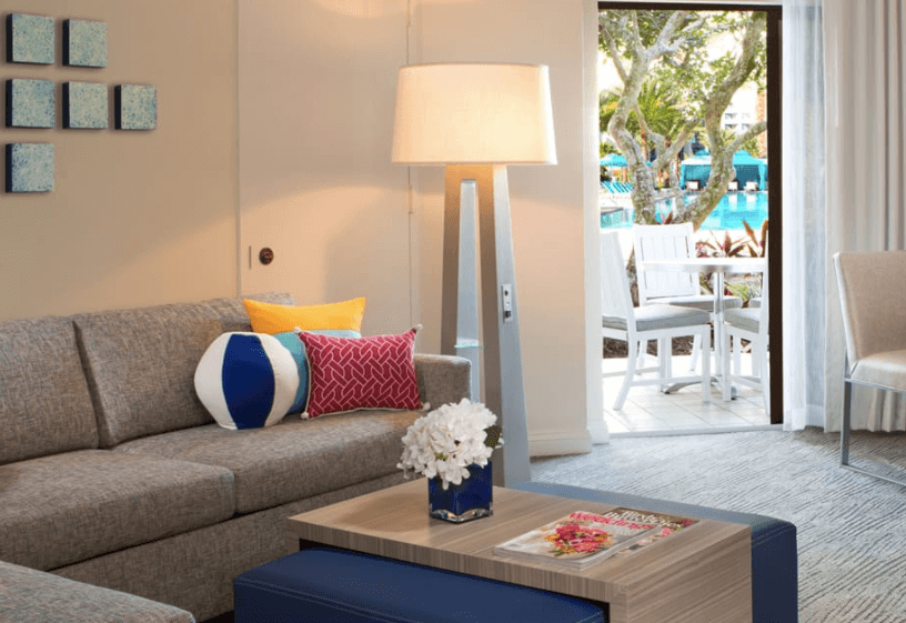Hilton Orlando Buena Vista Palace Family Island Suite with pool access (Copyright Hilton Orlando BVP) , Best Hotels For Families In Orlando