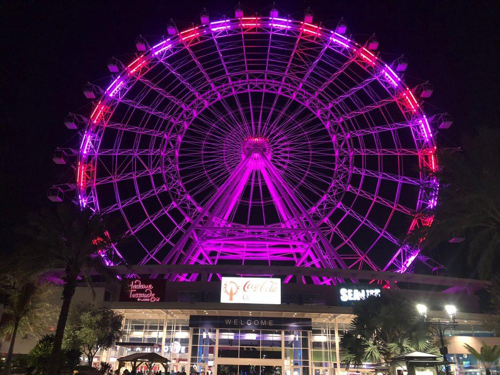 the wheel at ICON park, Orlando