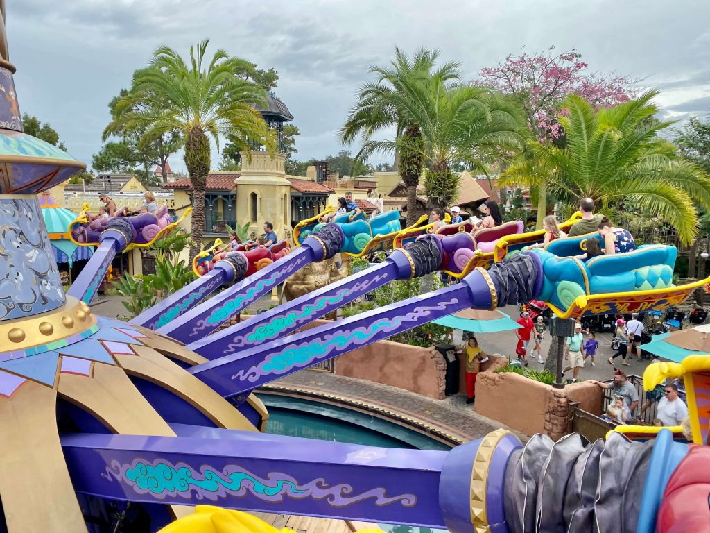 The Magic Carpets of Aladdin ride at Disney World one of the Best Rides At Disney World for Babies and Toddlers