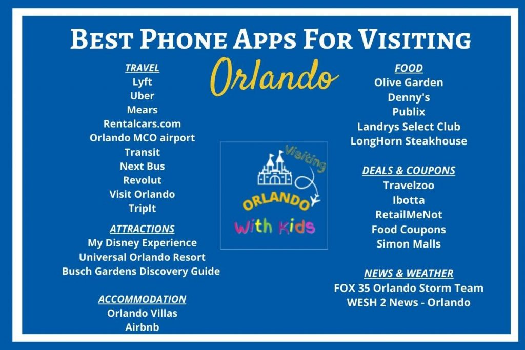 Best Orlando Apps For When You Are Visiting