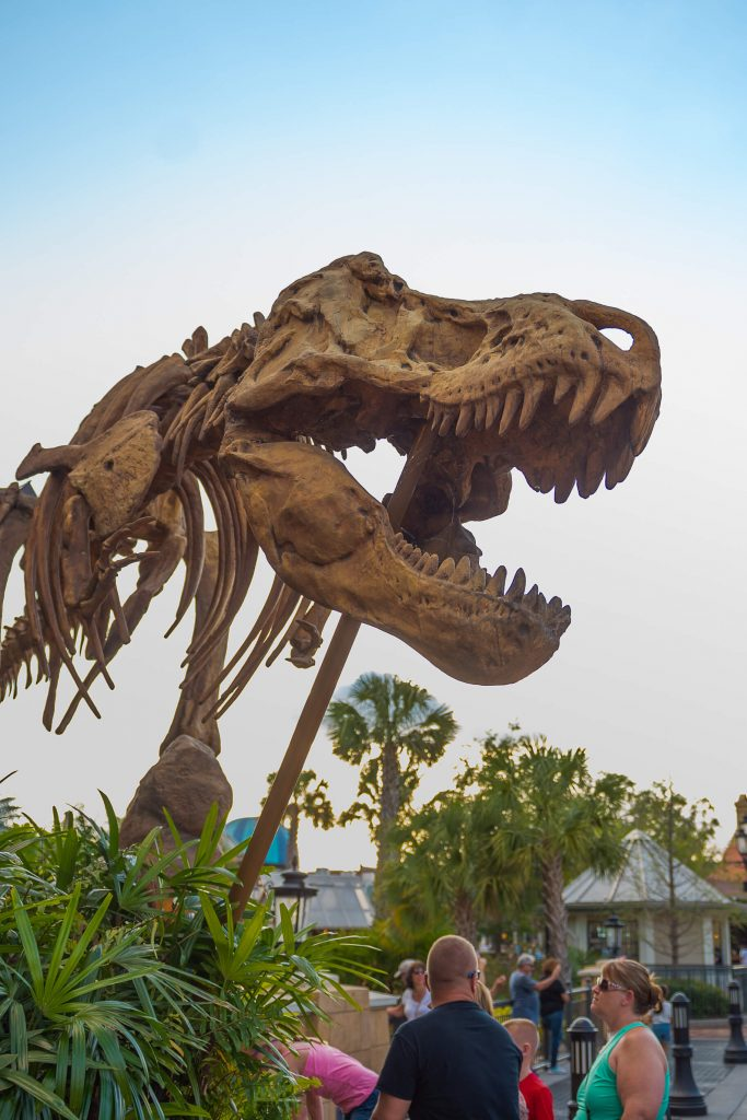 T-Rex Cafe is hard to miss! Free Things To Do At Disney Springs