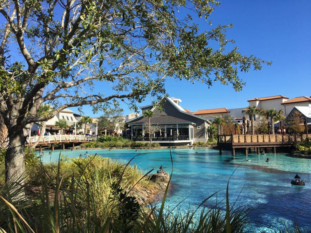 Free Things to do at Disney Springs, Orlando/ Disney Springs lake and shops