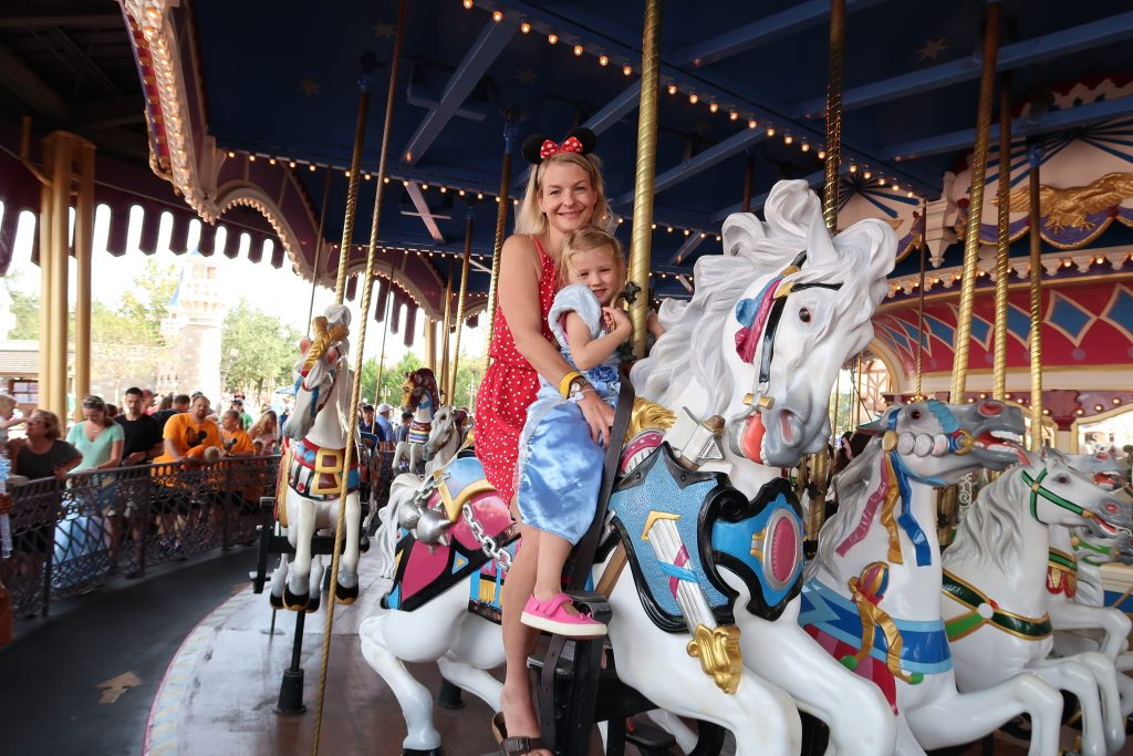 Carousel at Walt Disney World, one of the Best Rides At Disney World for Babies and Toddlers