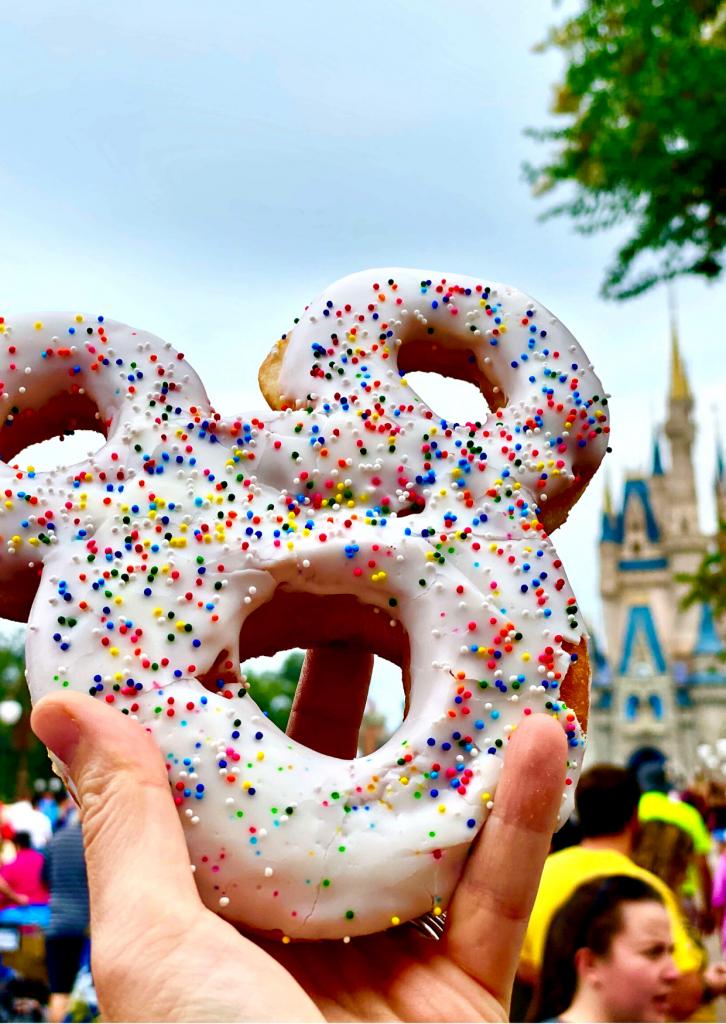 Mickey donut from Main Street bakery ( Starbucks) at Magic Kingdom, Disney World